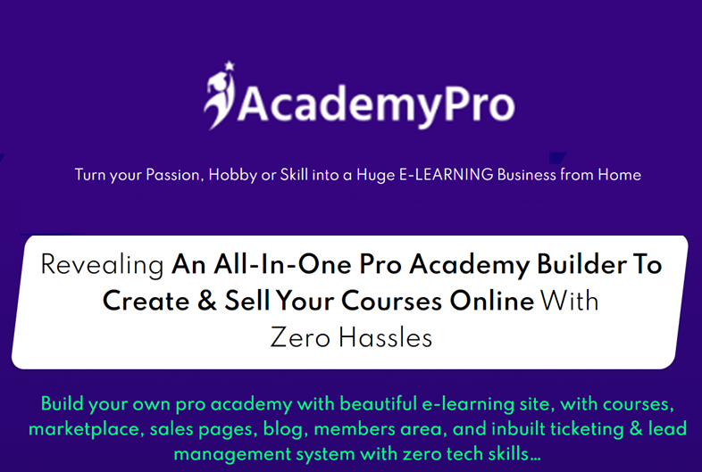 AcademyPro - Lifetime software deals for Online course creation create course online software create online training program