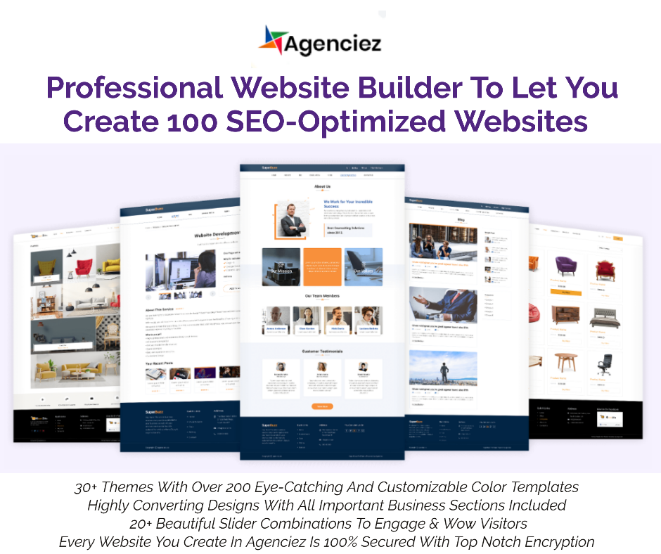 Agenciez Commercial – Professional WordPress Website Builder With Ready Templates Lifetime Software Deal