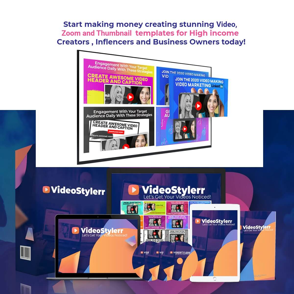 Videostylerr – Youtube Thumbnail Banner Creation Software Tools  Lifetime Software Deals for $27 only